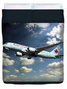Air Canada 787 Dreamliner Duvet Cover