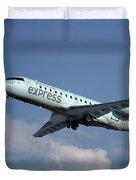 Air Canada Express Bombardier Crj-200er Duvet Cover