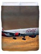 Air Canada Rouge Boeing 767-333 3 Duvet Cover