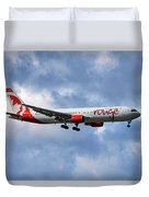 Air Canada Rouge Boeing 767-35h 118 Duvet Cover