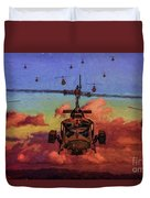 Air Cavalry Bell Uh-1 Huey  Duvet Cover