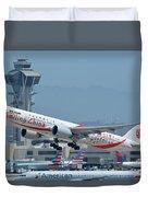 Air China Boeing 777-39ler B-2035 Smiling China Los Angeles International Airport May 3 2016 Duvet Cover