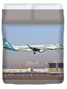 Air Dolomiti, Embraer Erj-195 Duvet Cover