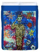 Air Force Day Of The Dead Duvet Cover
