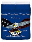 Air Force Desert Storm Duvet Cover