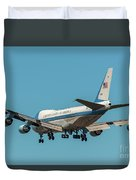Air Force One On Final Approach Into Charleston South Carolina Duvet Cover