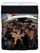 Air Force Thunderbird Maintainers Bring Duvet Cover by Stocktrek Images