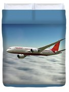Air India Boeing 787 Dreamliner N1008s  Duvet Cover