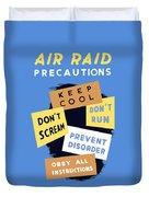 Air Raid Precautions - Ww2 Duvet Cover