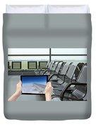 Air Travel Concept Duvet Cover