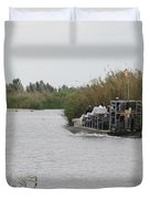 Airboat Rides 25 Cents Duvet Cover