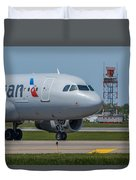 Airbus A319  On Taxi Duvet Cover