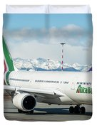 Airbus A330 Alitalia With New Livery  Duvet Cover
