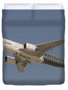 Airbus A350 At Dubai Air Show, Uae Duvet Cover
