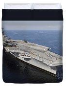 Aircraft Carrier Uss Carl Vinson Duvet Cover