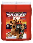 Airedale Terrier Art Canvas Print - The Magnificent Seven Movie Poster Duvet Cover