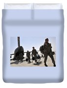 Airmen Arrive In Iraq In Support Duvet Cover
