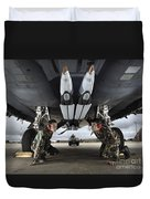 Airmen Check The Gbu-39 Small Diameter Duvet Cover by Stocktrek Images