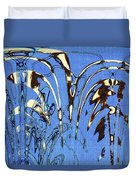 Airplane And Crane Abstract Duvet Cover
