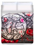 Airplane Grafitti Duvet Cover