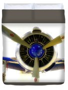 Airplane Propeller And Engine T28 Trojan 01 Duvet Cover