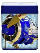 Airplane Propeller And Engine T28 Trojan 02 Duvet Cover