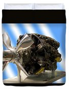 Airplanes Prop And Engine Duvet Cover