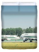 Airplanes That Appear To Be Kissing Duvet Cover