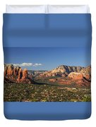 Airport Mesa Overlook At Sunset Duvet Cover