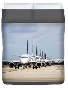 Airport Runway Stacked Up Duvet Cover