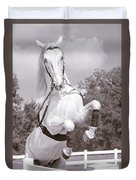 Airs Above The Ground - Lipizzan Stallion Rearing Duvet Cover