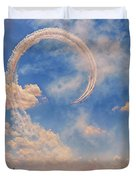 Airshow At The Lou Duvet Cover by Susan Rissi Tregoning