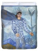 Airy King Of Wands Duvet Cover