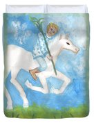 Airy Knight Of Wands Duvet Cover