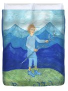 Airy Page Of Wands Duvet Cover