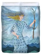 Airy Queen Of Wands Duvet Cover