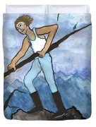 Airy Seven Of Wands Illustrated Duvet Cover