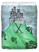 Airy Ten Of Wands Illustrated Duvet Cover