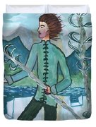 Airy Two Of Wands Illustrated Duvet Cover