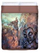 Ajanta Buddha Duvet Cover