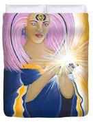 Ajna Third Chakra Goddess Duvet Cover
