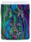 Akita Abstract Dog Duvet Cover