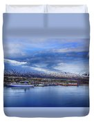 Akureyri Port Duvet Cover