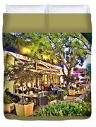 Al Fresco Dining Duvet Cover by Chuck Staley