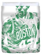 Al Horford Boston Celtics Pixel Art 6 Duvet Cover