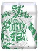 Al Horford Boston Celtics Pixel Art 7 Duvet Cover
