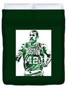Al Horford Boston Celtics Pixel Art Duvet Cover