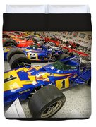 Al Unser Winning Cars At Indianapolis Duvet Cover
