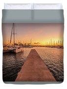 Ala Wai Harbor Sunset Duvet Cover