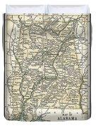 Alabama Antique Map 1891 Duvet Cover